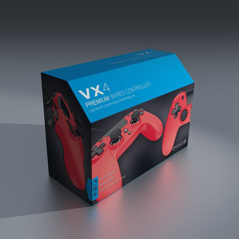 VX-4 PS4 Wired Controller Red