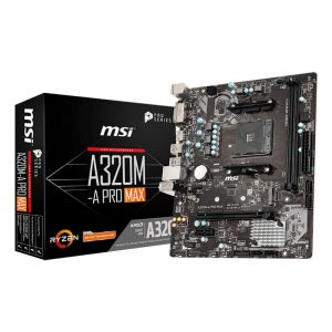 MSI A320M PRO-A MAX AMD AM4 m-ATX Gaming Motherboard