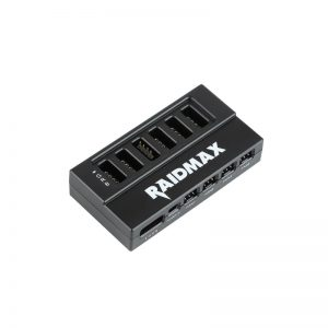 Raidmax Addressable RGB LED and Fan Speed Control Hub (4 x 3 Pin Ports|6 x 4 Pin Ports|1 x 4 Pin Motherboard Connector Compatible with: Fusion 2.0/Mystic Light Sync/Aura Sync)