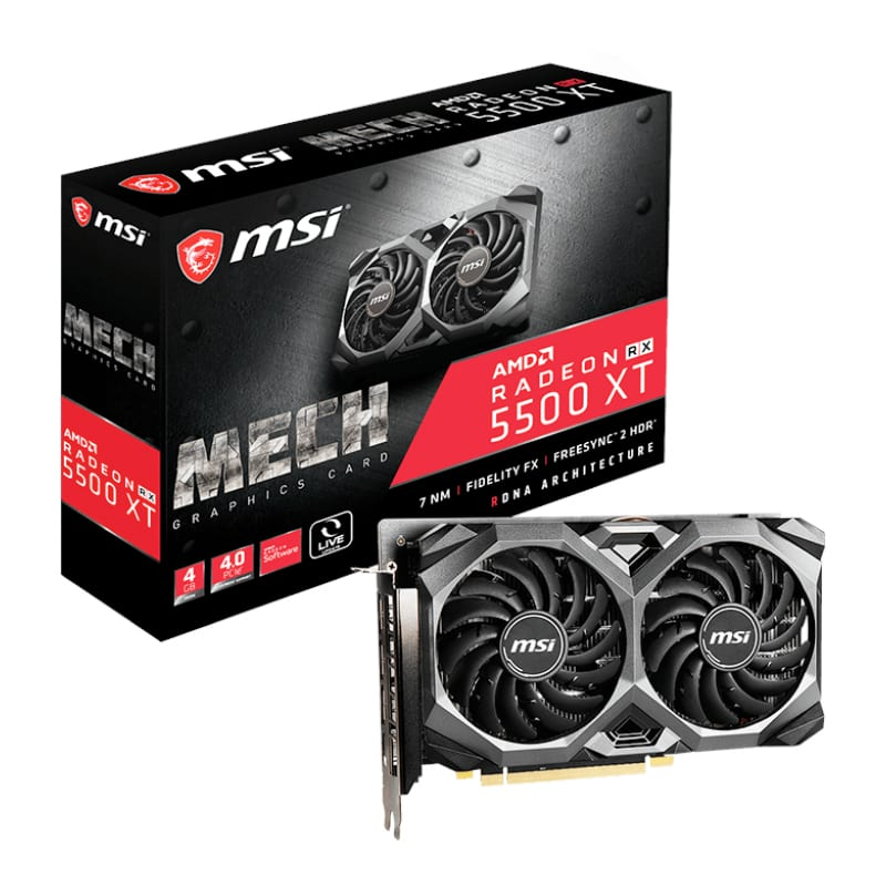 MSI RADEON RX 5500 XT 4GB GDDR6 128-BIT