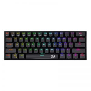 Redragon DRACONIC Mechanical 61 Key|Bluetooth 5.0|RGB 9 Colour Modes|Rechargable Battery|Type-C Charging Cable Gaming Keyboard – Black