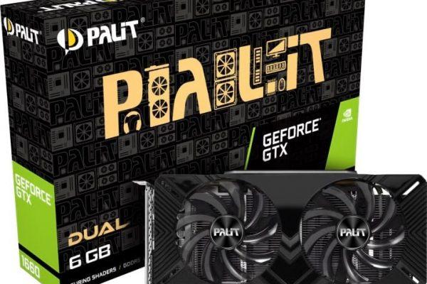 PALIT NVIDIA GEFORCE GTX 1660 DUAL  6GB GDDR5 PCIE GEN3 GAMING  GRAPHICS CARD